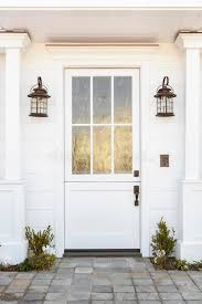 White Front Door To Classic Home Stock Photo Image of building