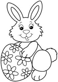 Easter Bunny Coloring Pages Colouring Eggs