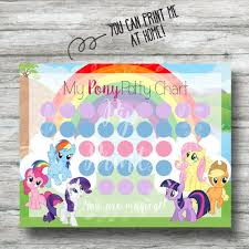 Printable My Little Pony Potty Chart Instant Download