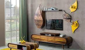 Yaprak Tv Ünitesi Kapaklı | Modern Tv Üniteleri | Mobilya, Duvar üniteleri,  Oturma odası tasarımları