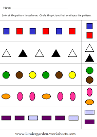 Kindergarten Worksheets: Kindergarten Pattern Worksheets