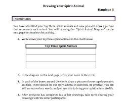 Animal Activity Chart Spirit Animals