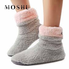 Winter Shoes Women Ankle Boots <b>Warm Fur Slides Indoor</b> Home ...