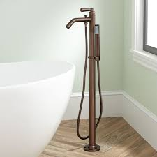 napier freestanding tub faucet and hand shower oil rubbed bronze