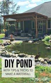 Diy Pond Diy Pond How To Make A Backyard Oasis With Waterfall