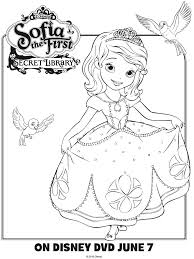 Small Picture Sofia the First Coloring Page Printable Coloring Pages Crafts