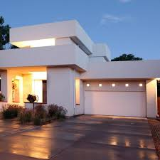white flat roof home designs exterior contemporary with