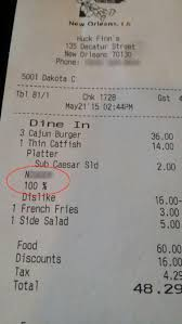 new orleans customer called the n word on racist receipt ny  a customer was called the n word on this receipt from huck finn s cafe in new orleans