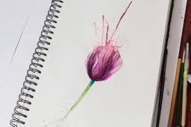 сделать татуировку тату эскиз цветы тюльпан алексей михайлов на