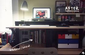 diy standing desk ikea hack