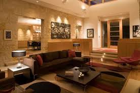 Colorful Geometric Floor Rug Split Level Living Room