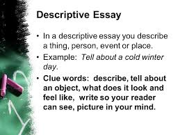 writing to a prompt using a square graphic organizer ppt descriptive essay in a descriptive essay you describe a thing person event or place