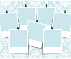 Collage Template Blue Damask Photo Collage Template Vector Art Graphics 5
