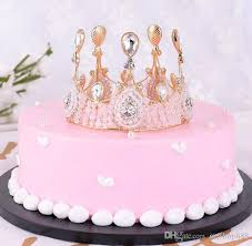Birthday Cake Crystal Tiara Cake Decoration Tiara Tiara Headdress