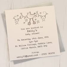 Personalised Baby Shower Invitation Pack By Eggbert Daisy