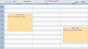 Meeting Room Scheduler Template Build Room Booking System With Dhtmlxscheduler For Asp Net Mvc