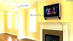 installing tv above fireplace impressive fireplace wall