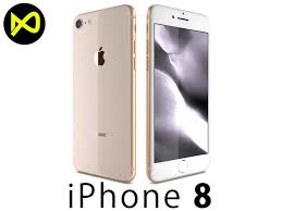 iphone 8 gold. apple iphone 8 gold 3d model iphone