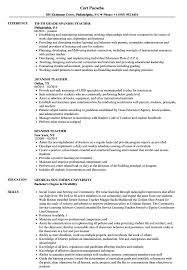 Spanish Teacher Resume Examples And Resume Profile Examples