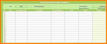 General Ledger Template Printable Accounting Ledger Template Printable Accounting Ledger