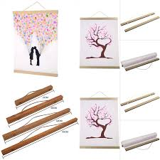 magnetic wooden poster hanger photo frame wood hanging scroll frames wall art