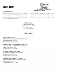 Resumes Show Salary History On Resume How Do You Your Example To