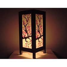 asian lighting. Thai Vintage Handmade Asian Oriental Japanese Sakura Flower Bedside Table Light Or Floor Wood Paper Lamp Lighting O