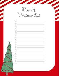 Printable Christmas Gift List Template Wish List Template List Templates List Template Word