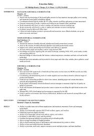 Editorial Coordinator Resume Samples Velvet Jobs