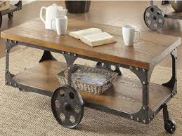 modern industrial in style this one of a kind coffee table is the unique piece