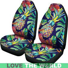 hawaiian car seat covers pineapple car seat covers custom car seat covers oahu hawaiian flower car