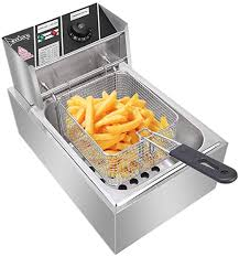 Deep Fryer Stainless Steel Double Cylinder Electric ... - Amazon.com