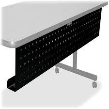 lorell rectangular training table modesty panels