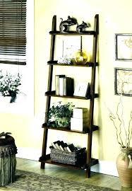 ladder bookshelf with drawers shelf black wall folding bookcase uk