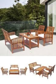 wooden garden furniture set outdoor