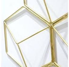 hex grid brass wall decor s 2 indian
