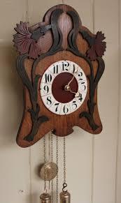 unusual art nouveau wall clock antique wall clocks