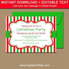 Christmas Invitation Template Mesmerizing Christmas Invitation Template EDITABLE Xmas Invitations Cute Etsy