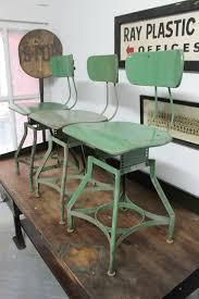 Craftsman Stool And Table Set Set Of 3 X Vintage Industrial Toledo Uhl Draftsman Stool Rustic