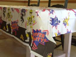 Power Rangers Bedroom Decor Amazoncom Mighty Morphin Power Rangers Party Decoration Paper