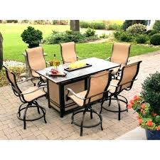 fire pit dining table set fire pit table set patio dining set with fire pit table
