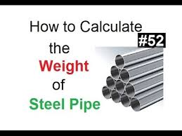 Casing Weight Chart How To Calculate The Weight Of Hallow Steel Pipe In Urdu Hindi