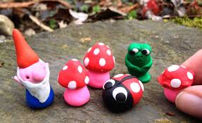 make fairy garden gnomes mushrooms and ladybugs with diy erasers