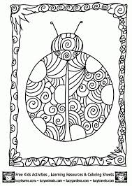 Small Picture Beautiful Ladybug Doodle Art Coloring Page For Adults Abstract