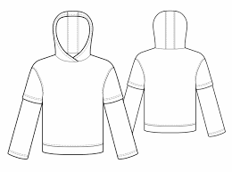 Sweatshirt Pattern Magnificent Sweatshirt With Double Sleeve Sewing Pattern 48 Madeto