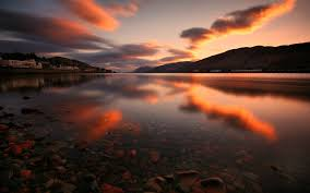 Image result for water sunset mountains
