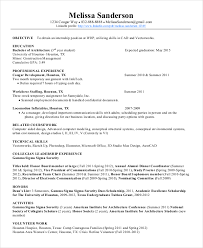 Cad Engineer Sample Resume 8 Experience Autocad Electrical