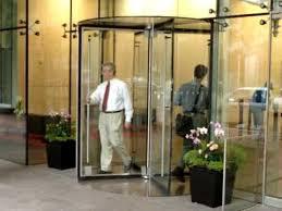 boon edam crystal tq all glass revolving door demonstration