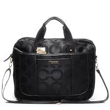 Discount Coach In Monogram Large Black Business Bags HR2895