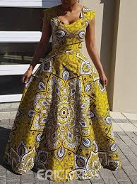 Eric Dress Size Chart Ericdress African Fashion Floor Length A Line Dress Without